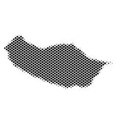 Halftone schematic portugal madeira island map vector