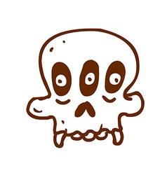 Hand Drawn Three Eyed Skull vector image