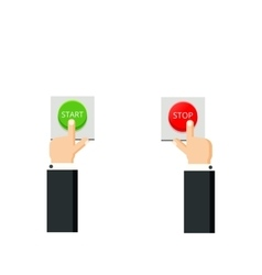 Hands press buttons Flat vector