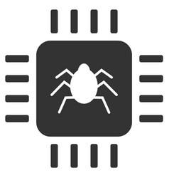 Hardware bug flat icon vector