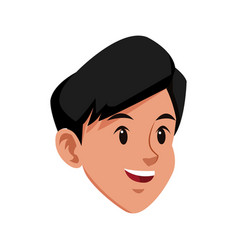head boy young smiling avatar vector image