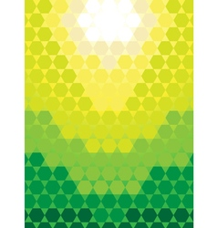 Hexagonal honeycomb green background pattern vector image