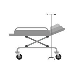 Hospital bed vector image