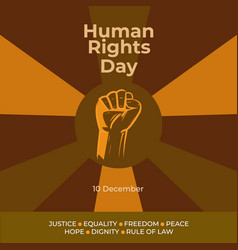 Human rights day vector