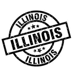 illinois black round grunge stamp vector image