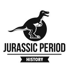 jurassic monster logo simple black style vector image