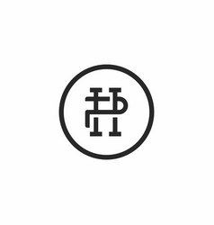 Letter hp logo icon mark vector
