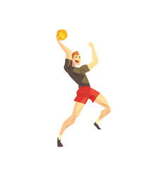 male basketball player sportsman character vector image