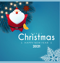 merry christmas and happy new 2021 year design vector image