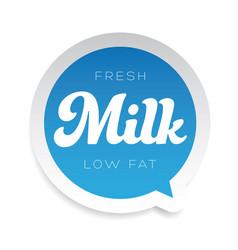Milka label sticker sign vector