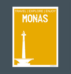 Monas jakarta indonesia monument landmark vector