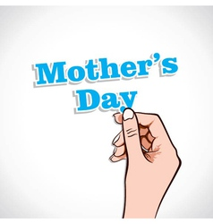 Mothers Day Word In Hand vector image