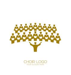 Music logo singing choir vector