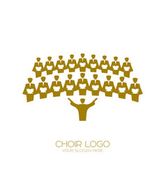 Music logo singing the choir vector