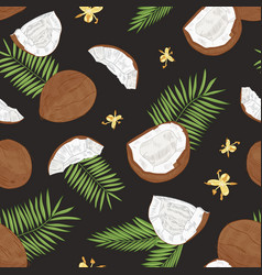 natural seamless pattern with whole and split vector image