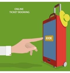 Online Ticket Booking Flat Concept vector