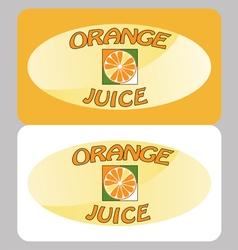 Orange juice poster vector image