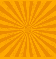 Orange rays bqackground grunge effect vector