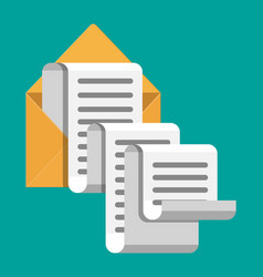 paper envelope letter correspondence vector image
