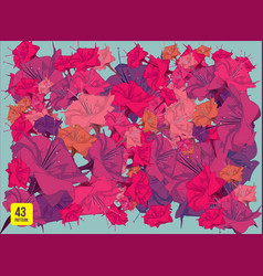 Pattern animal and flower vector