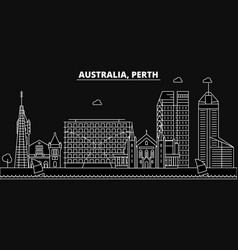 Perth silhouette skyline australia - perth vector