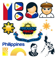 Philippines symbols vector