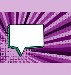 Picture pop art style comic text speech bubble vector