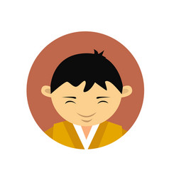 Portrait of asian man young boy wearing vector