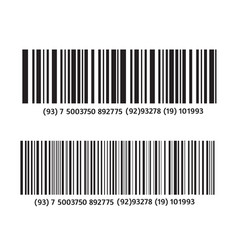 Realistic bar code vector