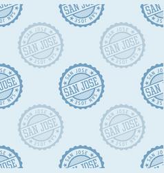 san jose seamless pattern vector image