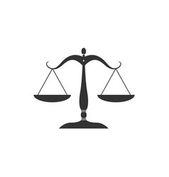 scales justice icon isolated court law vector image