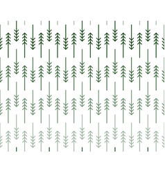Scandinavian zigzag fir and pine trees pattern vector