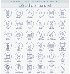 school or university Outline icon set vector image