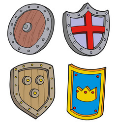 shield collection vector image