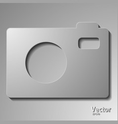 Slr camera on a white background vector