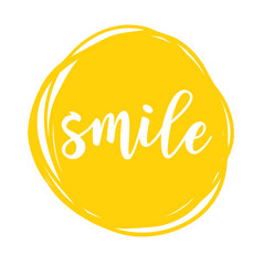 Smile motivation poster vector
