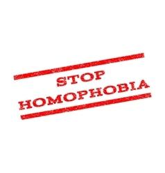 Stop Homophobia Watermark Stamp vector