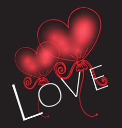 Stylish valentines day background vector