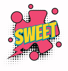 sweet comic word vector image
