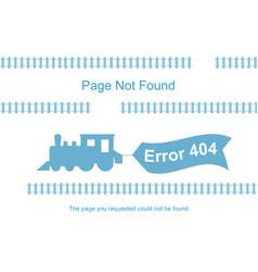 train with 404 error notification vector image