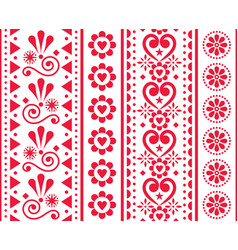 valentines day seamless vertical pattern vector image