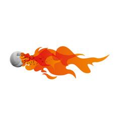Voleyball ball in flammes vector