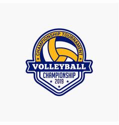 Volleyball club badge logo-1 vector