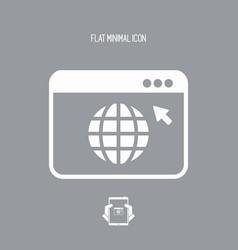 web browser window - flat minimal icon vector image