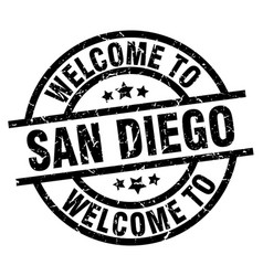 welcome to san diego black stamp vector image