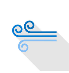 Wind icon flat style vector