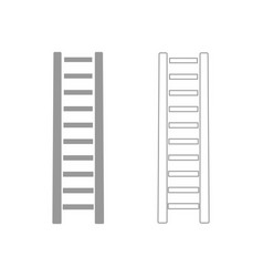 Wooden step ladder the grey set icon vector