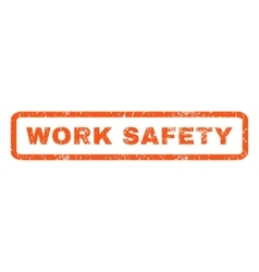 Work Safety Rubber Stamp vector