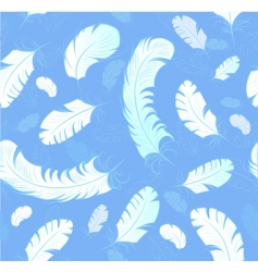 abstract feathers background vector image