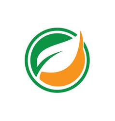 circle leaf logo image image vector image vector image